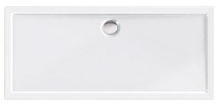 Acryl-Brausewanne Teso Deluxe 170 x 75 x 2,5 cm weiß