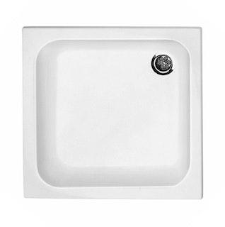 Acryl-Duschwannenset 90 x 90 x 6,5 cm weiß