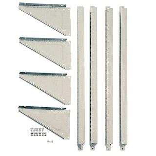 Arrow/Pergart Regalset aus galvanisiertem Stahlblech SS404 ohne Böden