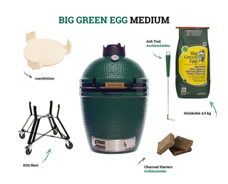 Big Green Egg Medium Holzkohlegrill (Starter-Set)
