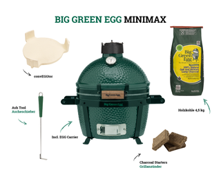 Big Green Egg MiniMax Holzkohlegrill (Starter-Set)