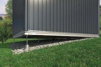 Erdschrauben-Fundament SmartBasePLUS für Biohort Gerätehaus HighLine mit Einzeltür oder Doppeltür