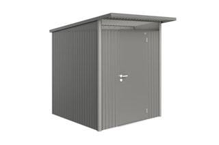 Biohort Gerätehaus Avantgarde mit Einzeltür 180 x 220 cm (Gr. A1) quarzgrau-metallic B-Ware