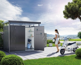 Biohort Gerätehaus HighLine mit Doppeltür