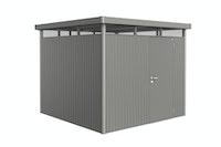 Biohort Gerätehaus HighLine mit Einzeltür-275 x 275 cm (Gr. H 4) - quarzgrau-metallic - inkl. Bodenrahmen - B-Ware