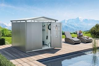 Biohort Gerätehaus Panorama mit Einzeltür