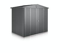 Biohort Europa Metall-Gerätehaus 244 x 228 cm (Gr. 4) - dunkelgrau-metallic - B-Ware