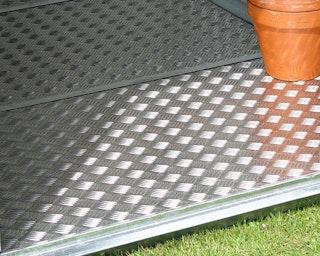 Alu-Bodenplatte für Biohort Metallgerätehaus Panorama