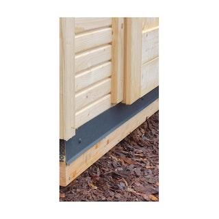 Abdeckblende 80 mm für Gartenhaus/Saunahaus Fundamentbalken anthrazit