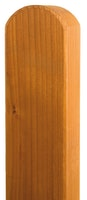 BM Zaunpfosten 90x90 mm vierkant Fichte Kopf gerundet farbig