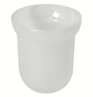 Bravat Tropfschale für WC-Bürstengarnitur Metasoft - Glas, mineralweiß