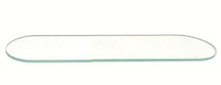 Bravat Glasplatte für Ablagekonsole Metasoft - 40 cm, transparent
