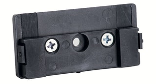 Bravat Wandadapter für Duschkörbe London, chrom / schwarz
