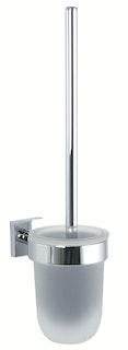 Bravat WC-Wandgarnitur Quaruna - Glas, chrom