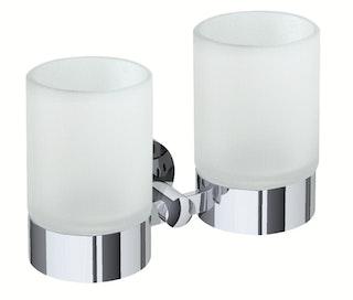 Bravat doppelter Glashalter Varuna, chrom