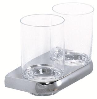 Bravat doppelter Glashalter Metasoft, chrom