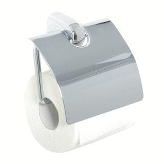Bravat WC- Papierhalter mit Deckel Metasoft - gedämpfte Absenkung, chrom