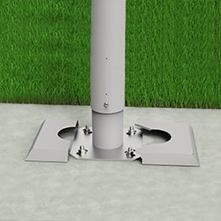 Biohort Steher (Pfosten) zum  Andübeln im Betonfundament
