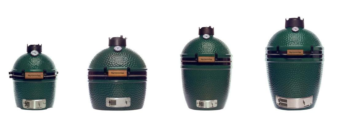 Größenvergleich Big Green Egg Mini, Minimax, Small, Medium