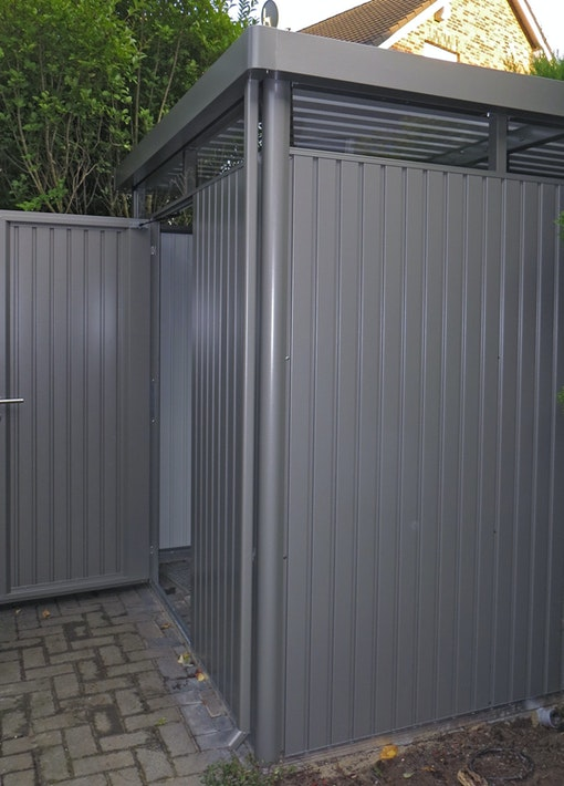 Gartenprojekt: Biohort Gerätehaus aufbauen