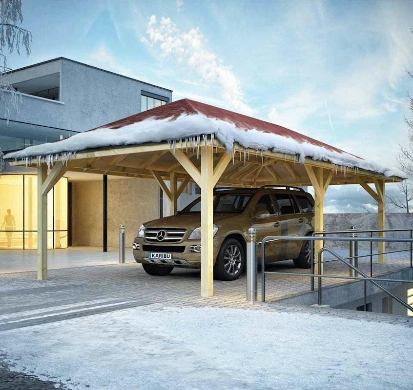 Ein Carport schützt ihr Auto im Winter vor Schnee und Eis