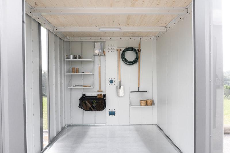 Gerätehaus Neo mit individueller Innenausstattung