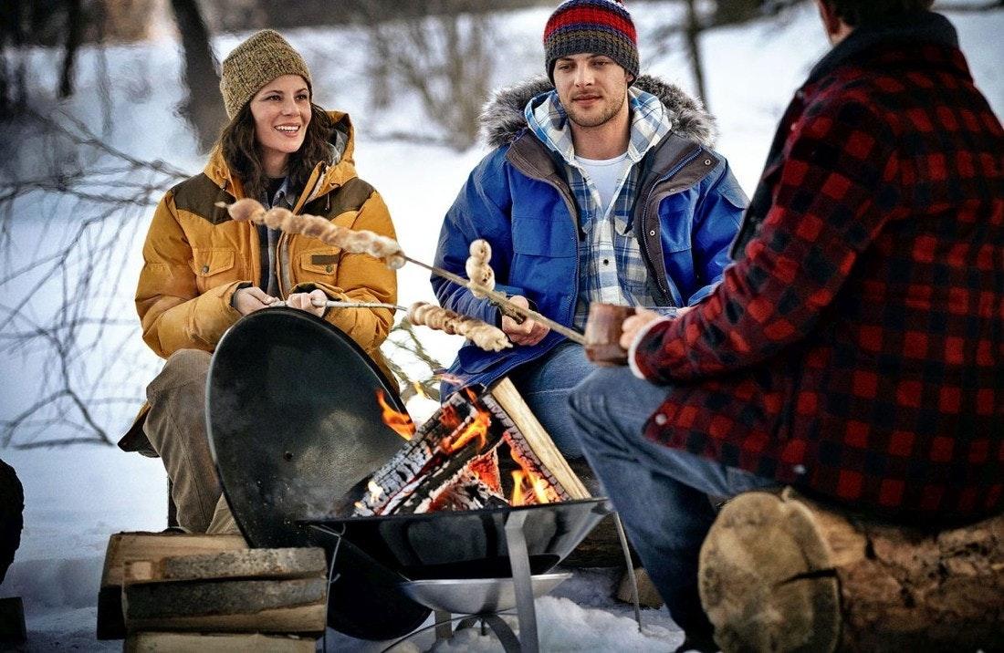 Wintergrillen Feuerstelle