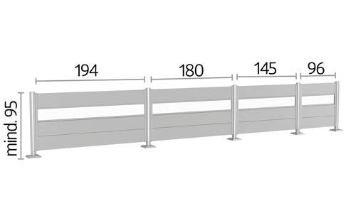 Sichtschutzzaun Biohort Maße Höhe 95