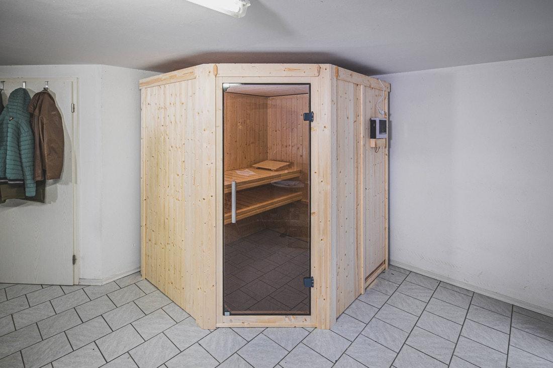 Klassiker: die Sauna im Keller, hier ist am meisten Platz und man hat seine Ruhe!