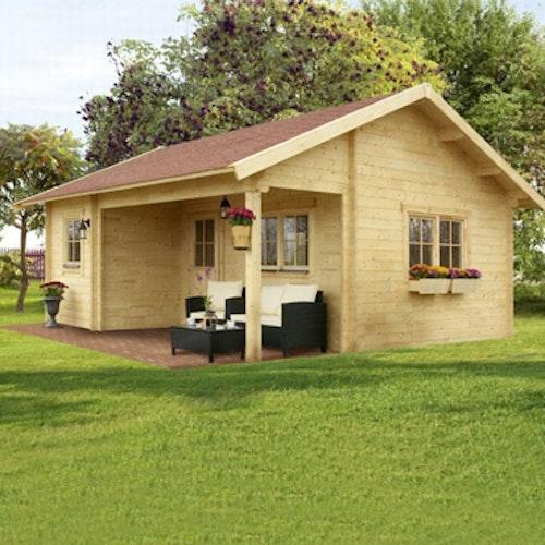 Das Skanholz Freizeithaus – hochwertiges Blockbohlenhaus mit viel Platz