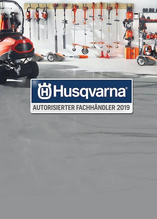 Wir sind autorisierter Husqvarna Fachhändler 2019