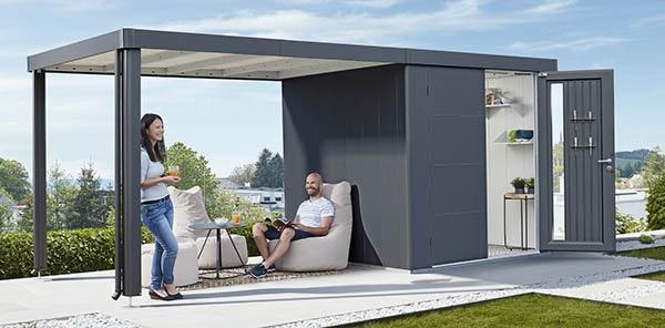Seitendach für das Biohort Gerätehaus Neo