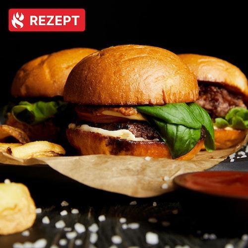 Grills.de-Burger mit dem Weber Genesis II LX-440