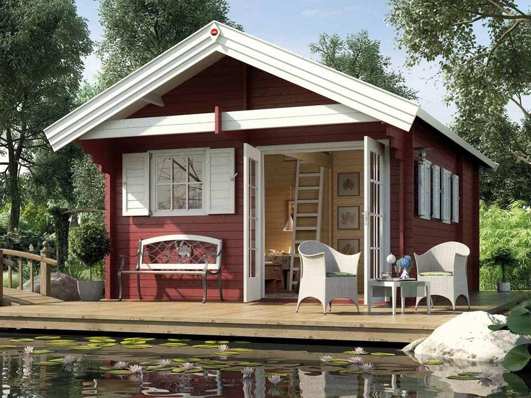 Das Weekendhaus 155 von Weka entstammt einem Skandinavischen Sommertraum