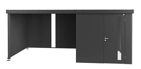 Seiten-und Rückwand für Seitendach Biohort Gerätehaus Neo