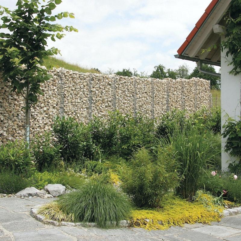 Gabionen eignen sich hervorragend als Sichtschutz auf der Grundstücksgrenze