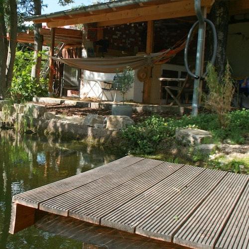 Baden, Bienen, Bar: Ein echter Allround-Teich