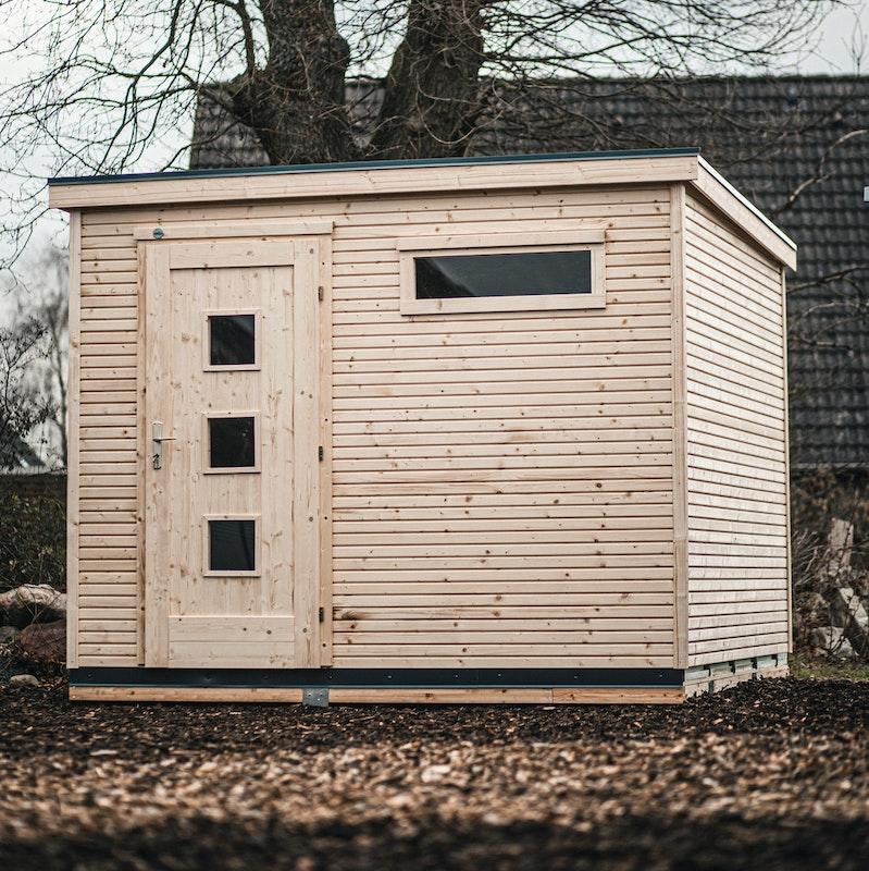 Auf unserer Ausstellungsfläche in Reinbek bei Hamburg können Sie das Designhaus von Weka in echt bewundern