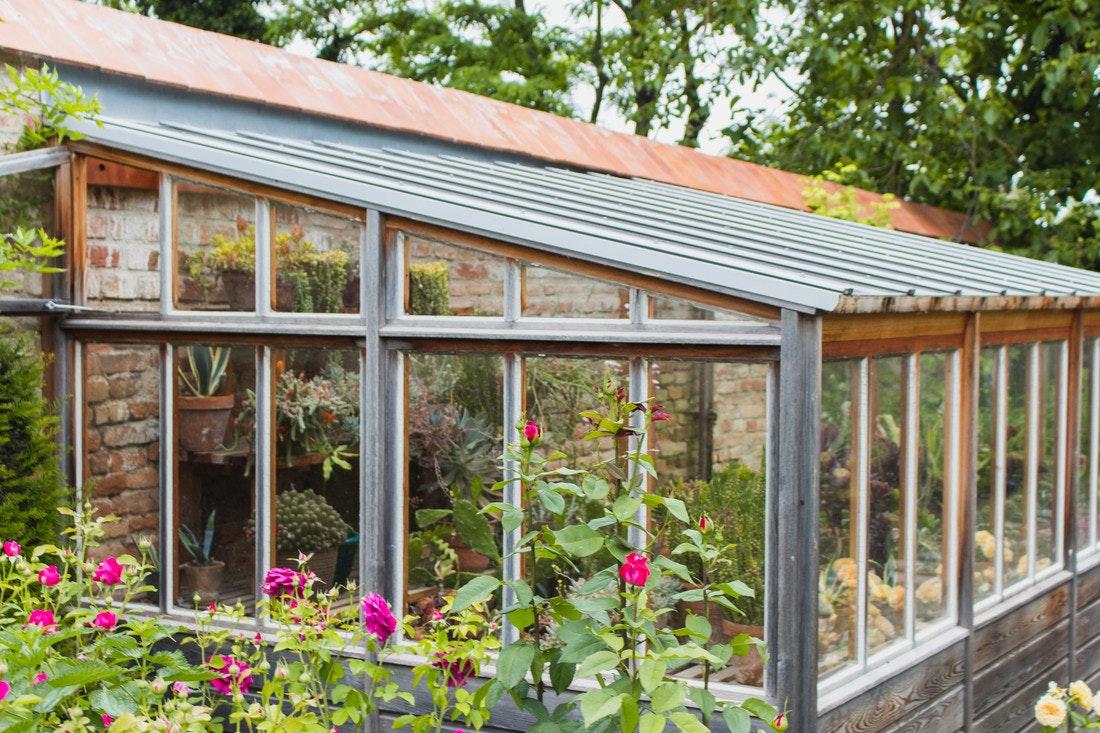 Holz ist das klassische Material für Gewächshäuser, besonders wenn man sie selber bauen will