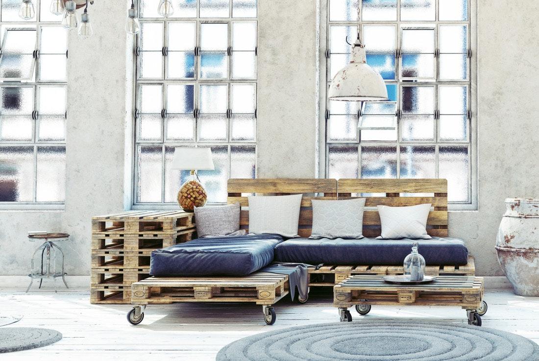 Paletten-Möbel im modernen Look