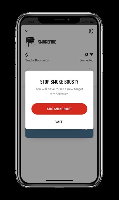 Smoke Boost aktivieren mit der Weber Connect App