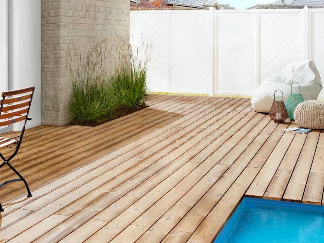 Reinigung einer Holzterrasse   Wohndesign20