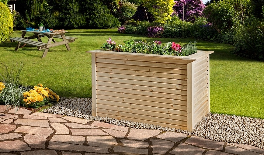 Blickfang im Garten: das Weka Profi-Hochbeet 669 aus Holz