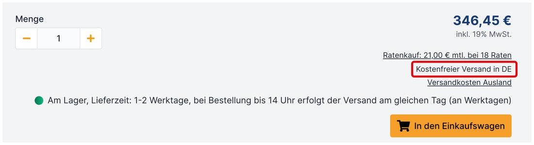 Versandkosten DE