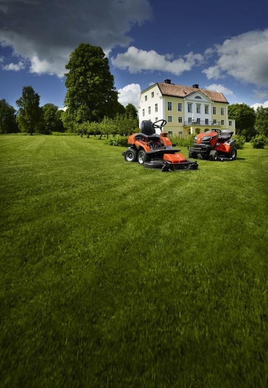 Husqvarna Gartentraktor und Rider erleichtern die Rasenpflege