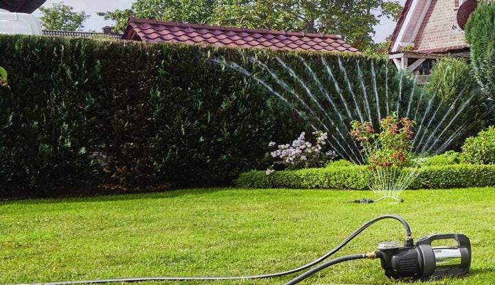 Oase Bewässerungspumpe im Garten