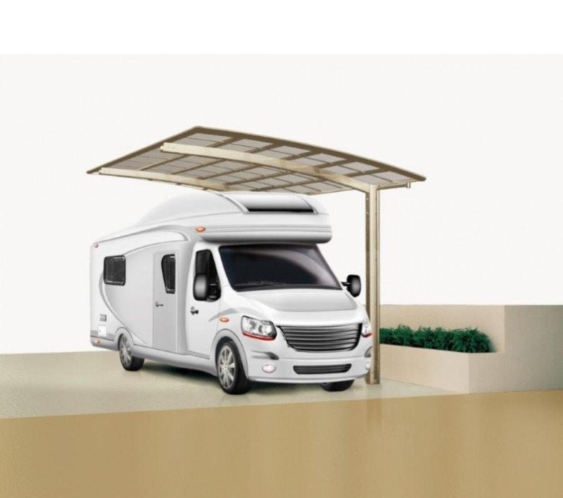 Caravan unter Ximax Carport