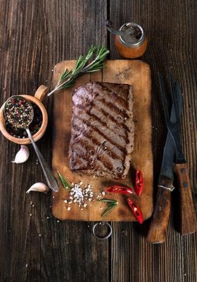 Schönes Branding auf dem Steak: direkt gegrillt!