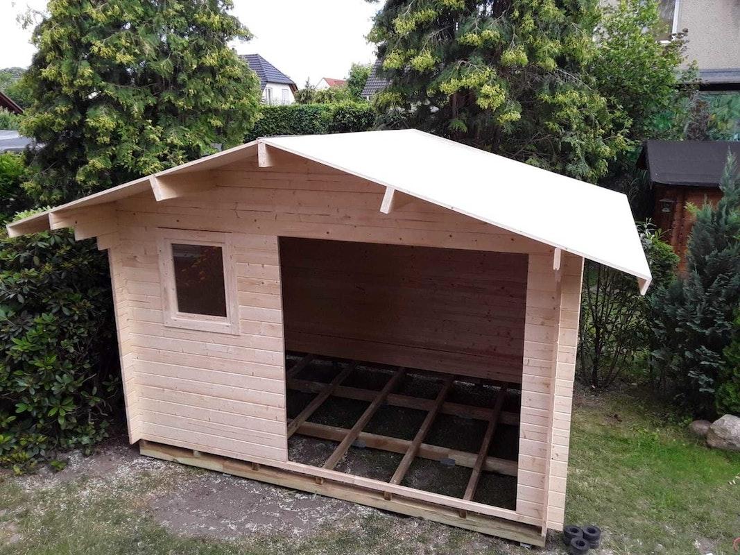Schritt 4: Das Gartenhaus ist fast fertig