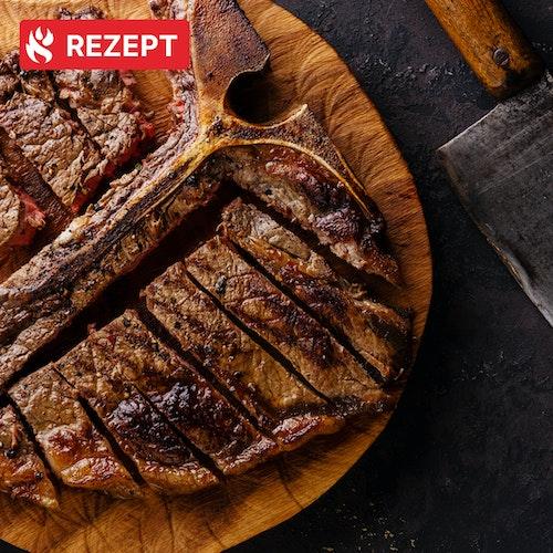 Shio Aged T-Bone Steak direkt von der Sizzle Zone!